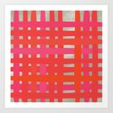 Loom - Red + Magenta Art Print