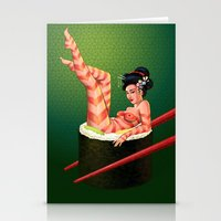 Sushi Girl Stationery Cards