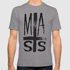 MASS Mens Fitted Tee Athletic Grey SMALL