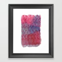 Leaves / Nr. 6 Framed Art Print