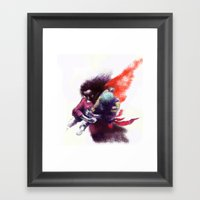Kaçış Framed Art Print