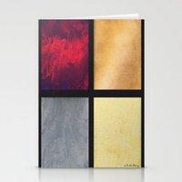 Four Squares 001 Stationery Cards