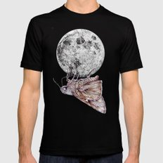 In which a moth is enticed by the light of the moon SMALL Black Mens Fitted Tee