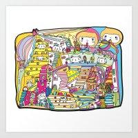 Cartoon Wonderland Art Print