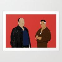 Sopranos - Tony Soprano - Paulie Gualtieri Art Print