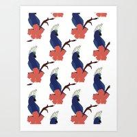 Parrot Boys  Art Print