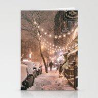 Snow - New York City - E… Stationery Cards
