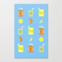 Juice Pattern  Canvas Print