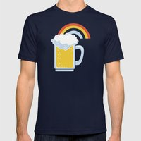 Happiness Mens Fitted Tee Navy SMALL