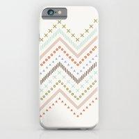 Mixed Zig Zag - in Mint iPhone 6 Slim Case