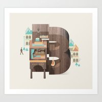 Resort Type - Letter B Art Print