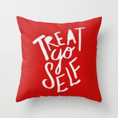 Treat Yo Self: Holiday Edition Throw Pillow