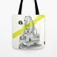 Camping Bear Tote Bag
