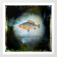 The surrealist fish Art Print