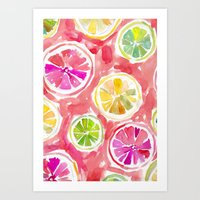 Citrus Juice Art Print