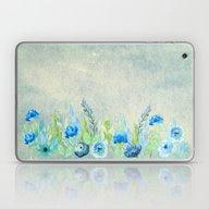 Blue Flowers In A Meadow Laptop & iPad Skin