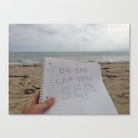 Oh Say Can You Sea? Canvas Print
