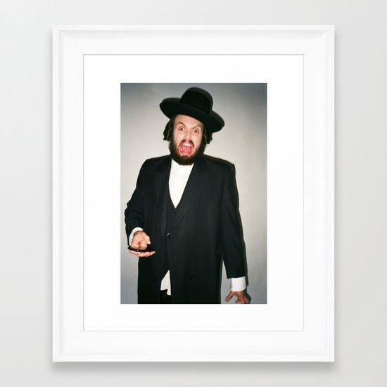 Rabbi Carlos Framed Art Print