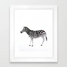 Z E B R A Framed Art Print