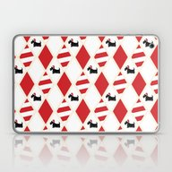 Scottie Dog Christmas Pa… Laptop & iPad Skin