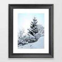 Natures Christmas Tree Framed Art Print