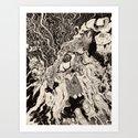 Entanglement (Untitled Face II) Art Print