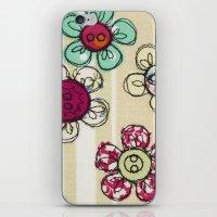 Embroidered Flower Illus… iPhone & iPod Skin