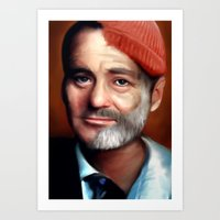 Bill Zissou  Art Print