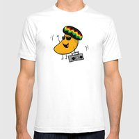 Jamaican Mango Mens Fitted Tee White SMALL