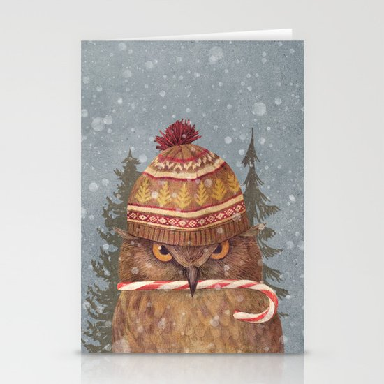 Christmas Owl  Stationery Card
