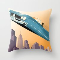 Dude, Where's My Flying … Throw Pillow