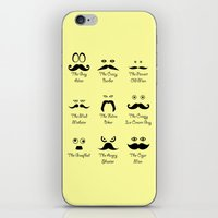 Eyes and Facial Hair iPhone & iPod Skin