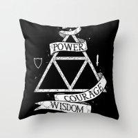 The Legend of Zelda - Triforce Throw Pillow