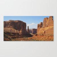 Park Avenue - Arches National Park Canvas Print