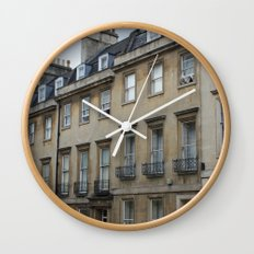 Row of Houses in Bath Wall Clock