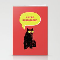 Unbearable Stationery Cards