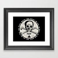 Skull & Bones Framed Art Print