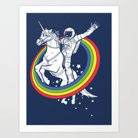 rainbow Art Prints featuring Epic Combo #23 by Jonah Makes Artstuff
