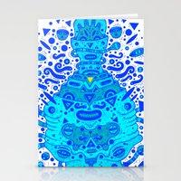 igen igen blue Stationery Cards