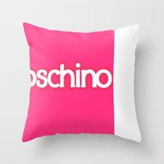 Moschino Barbie Throw Pillow