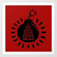 One, Two, Three, Four Art Print
