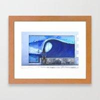 resting on the wave Framed Art Print