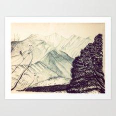 Mount Princeton  Art Print