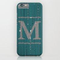 Winter clothes. Letter M. iPhone 6 Slim Case