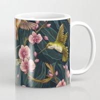 Hummingbird Pattern Mug
