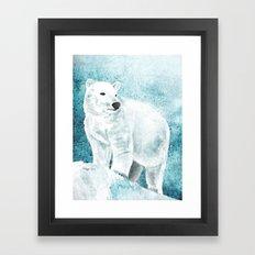 The White Bear Framed Art Print