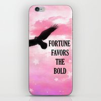 Surreal Fantasy Pink Nature Raven Typography iPhone & iPod Skin