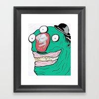 When minds wander.... Framed Art Print