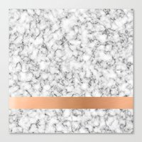Marble and copper Canvas Print