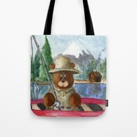Fisherman Bear Tote Bag